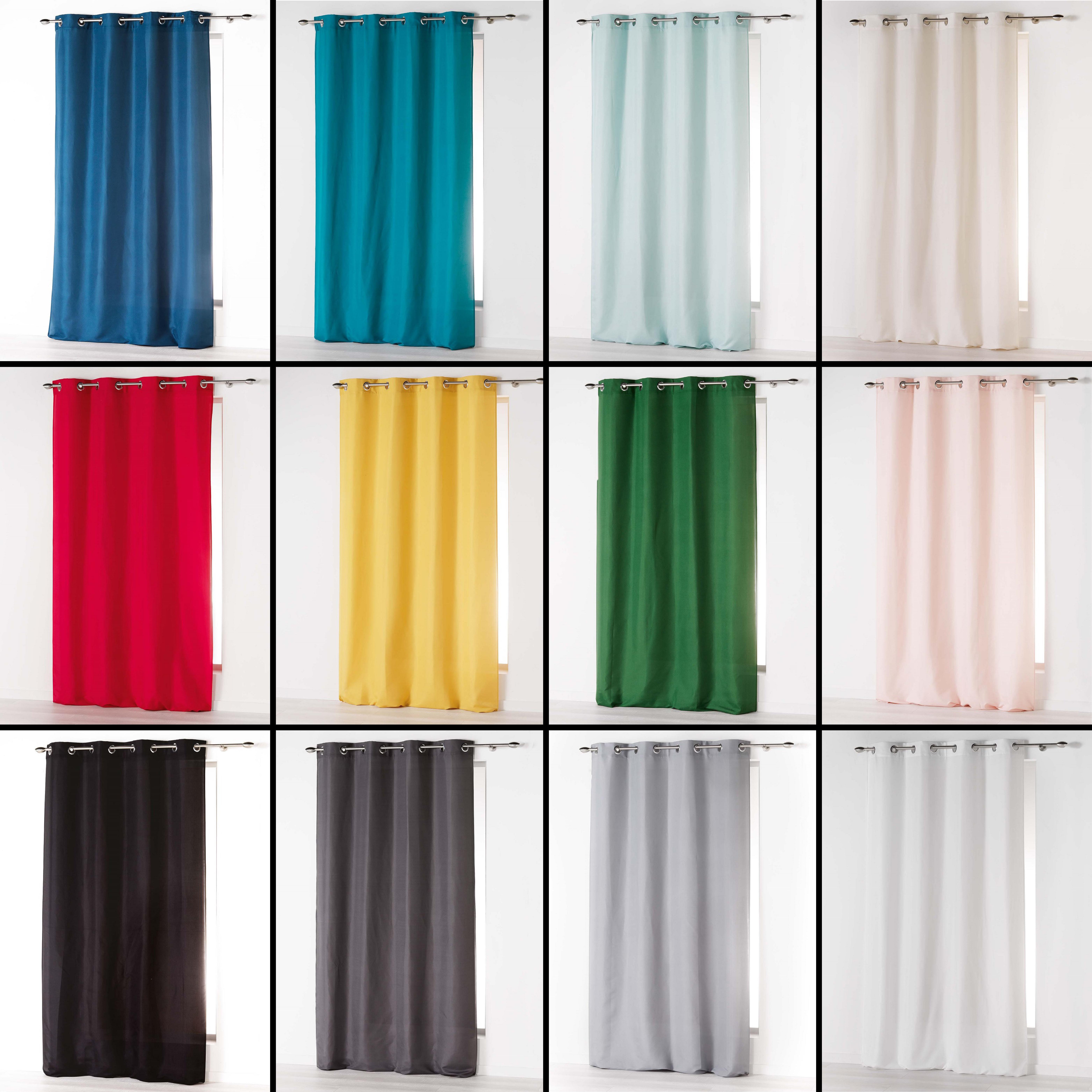 Absolu Plain Eyelet Single Voile Curtain Panel Long Drop