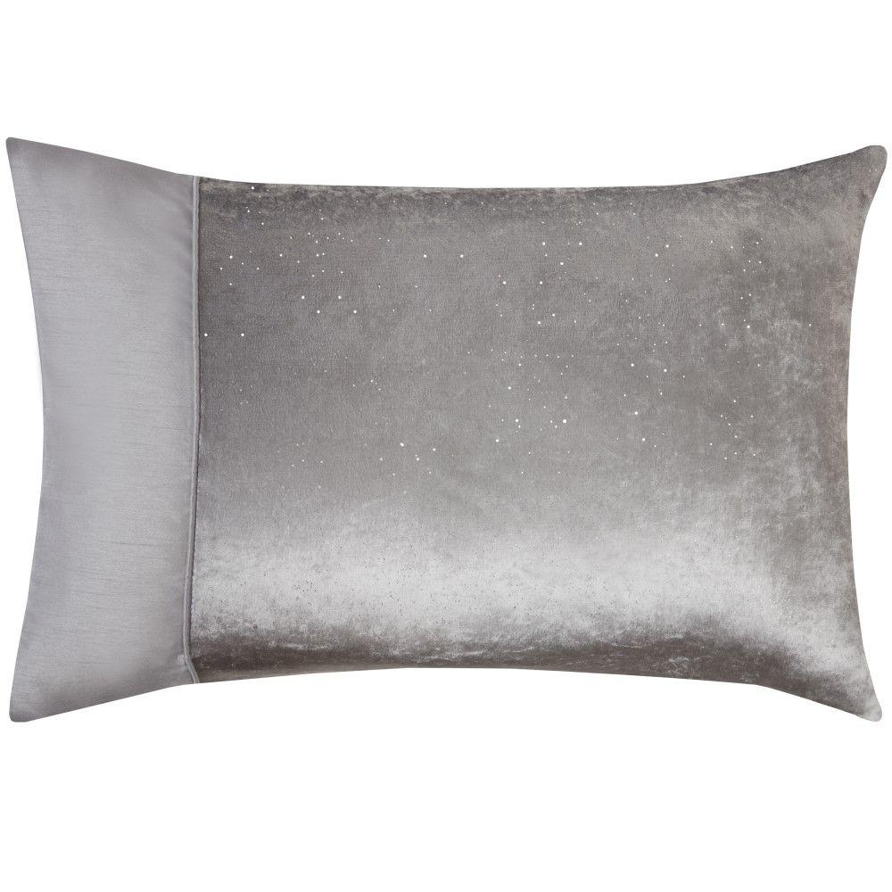 Sparkle-Shimmer-Crushed-Velvet-Duvet-Quilt-Cover-Bedding-Set-Silver-Grey thumbnail 4