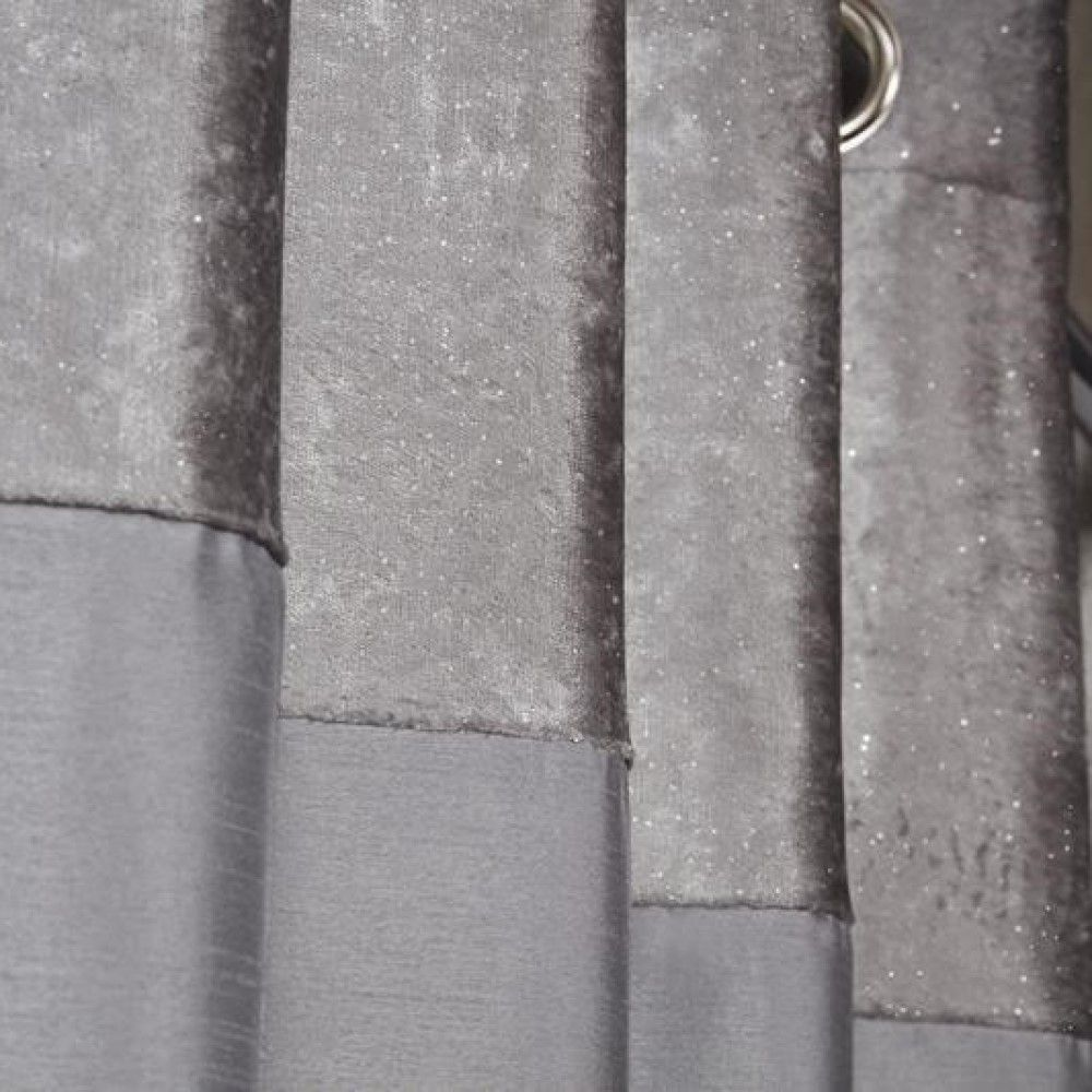Sparkle-Shimmer-Crushed-Velvet-Duvet-Quilt-Cover-Bedding-Set-Silver-Grey thumbnail 8