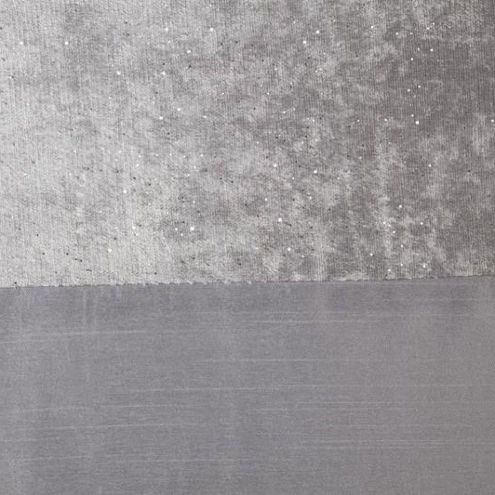 Sparkle-Shimmer-Crushed-Velvet-Duvet-Quilt-Cover-Bedding-Set-Silver-Grey thumbnail 9