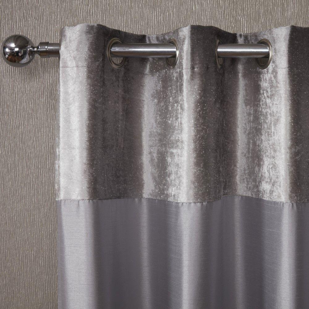 Sparkle-Shimmer-Crushed-Velvet-Duvet-Quilt-Cover-Bedding-Set-Silver-Grey thumbnail 6