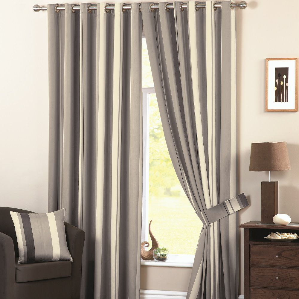curtina whitworth ready made lined vertical stripe. Black Bedroom Furniture Sets. Home Design Ideas