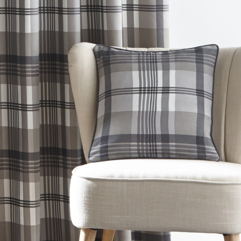 Orleans Check Modern Solid Border Fully Lined Eyelet