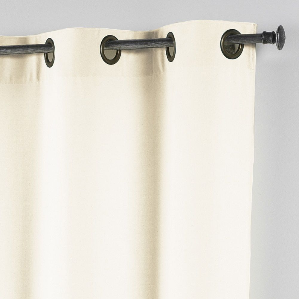 Essentiel-Plain-Single-Curtain-Panel-with-Metal-Eyelets-Long-280cm-Drop thumbnail 3