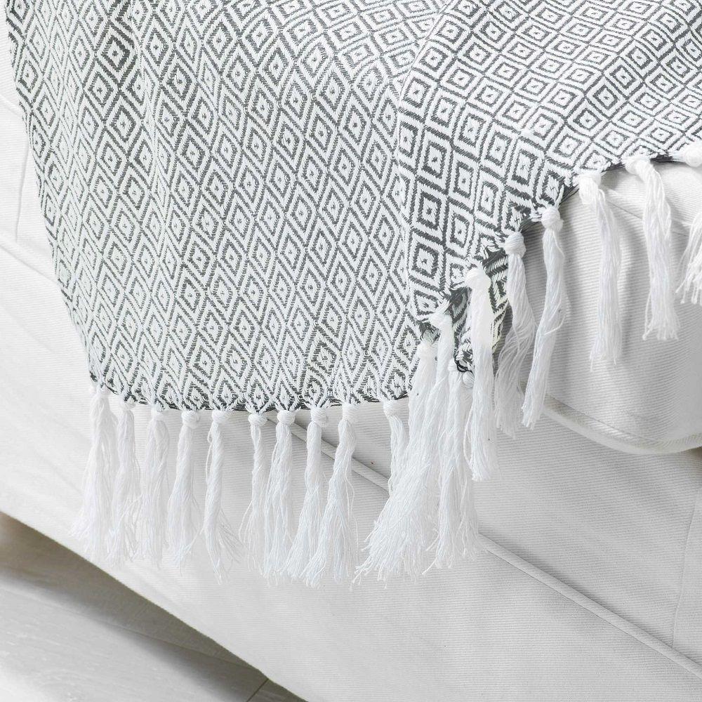 100/% Cotton Handwoven All Season Soft Throw Blankets Batik 50/'/'x60/'/' Set of 2