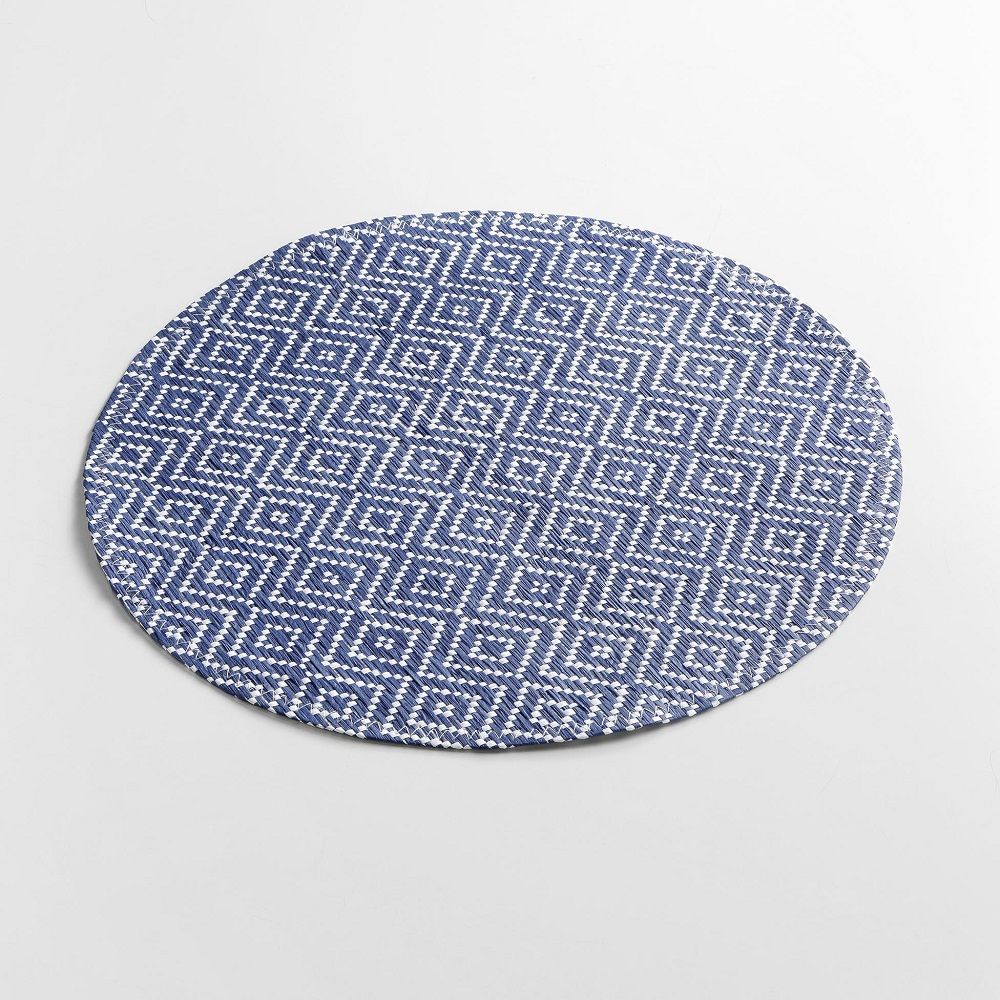 Woven-Basketweave-Fibre-Paper-Table-Placemat-Round-or-Rectangular thumbnail 10