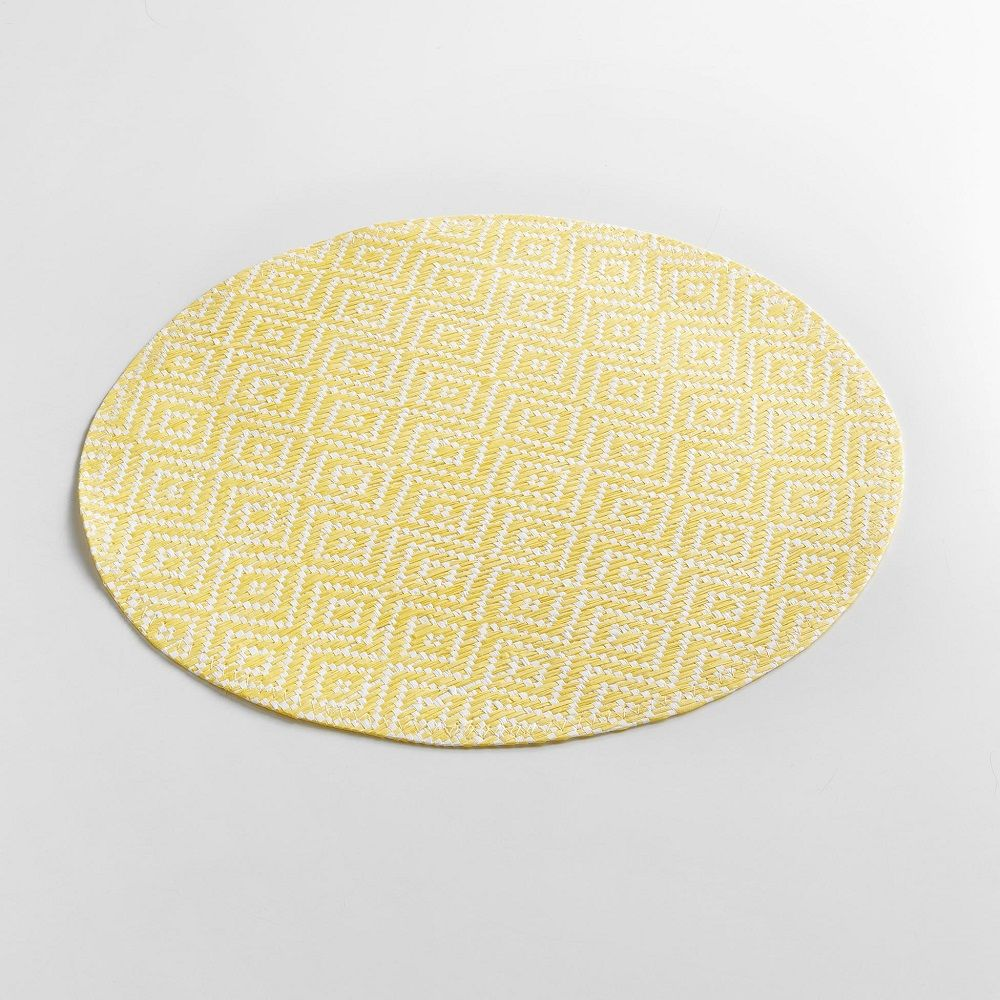 Woven-Basketweave-Fibre-Paper-Table-Placemat-Round-or-Rectangular thumbnail 22