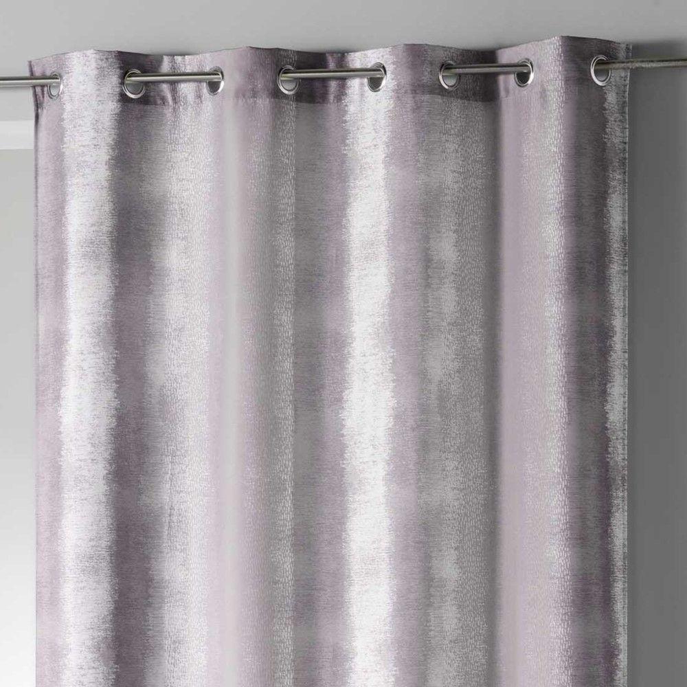 Long Drop Rainbow Stripes Ready Made Single Eyelet Curtain Voile Panel