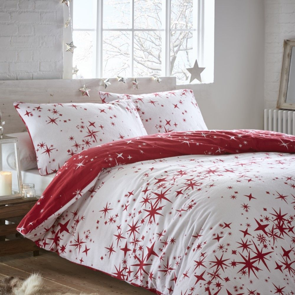 Thermal-100-Brushed-Cotton-Flannelette-Quilt-Duvet-Cover-Bed-Set-Soft-Cosy-Warm thumbnail 7