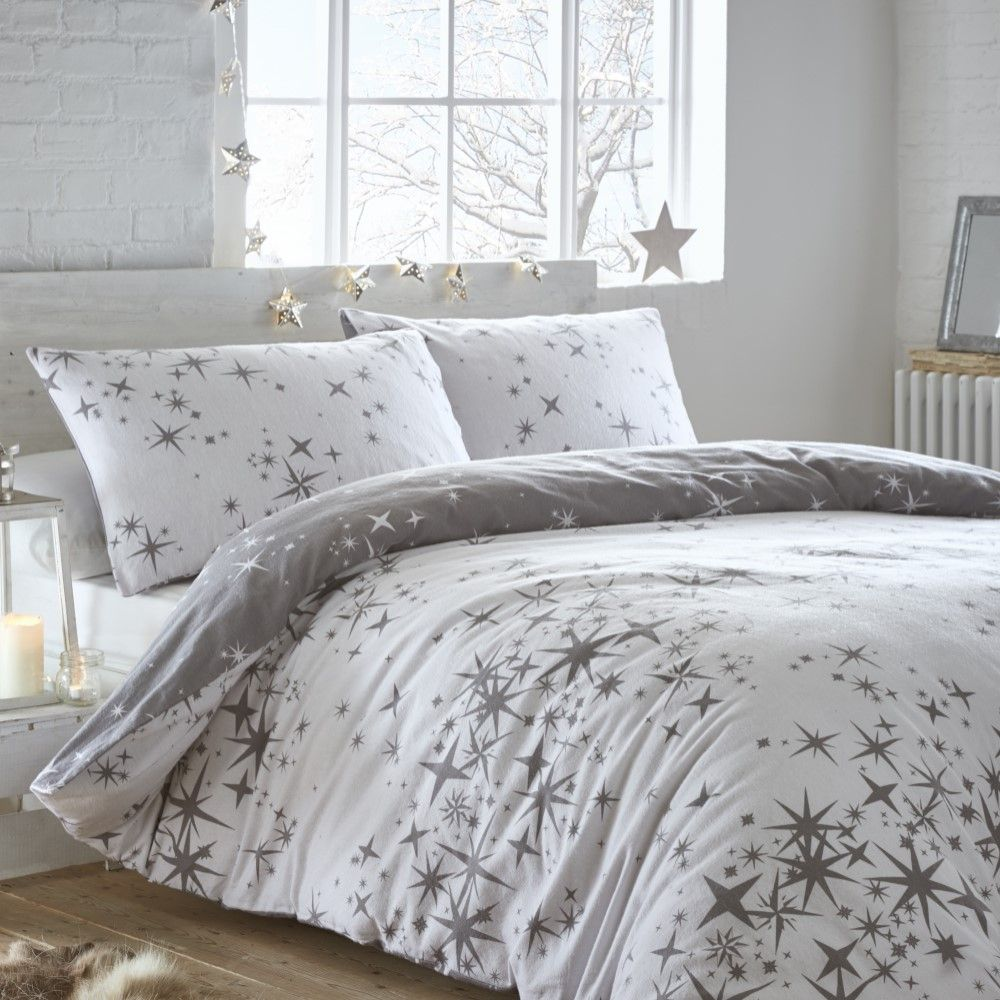 Thermal-100-Brushed-Cotton-Flannelette-Quilt-Duvet-Cover-Bed-Set-Soft-Cosy-Warm thumbnail 9
