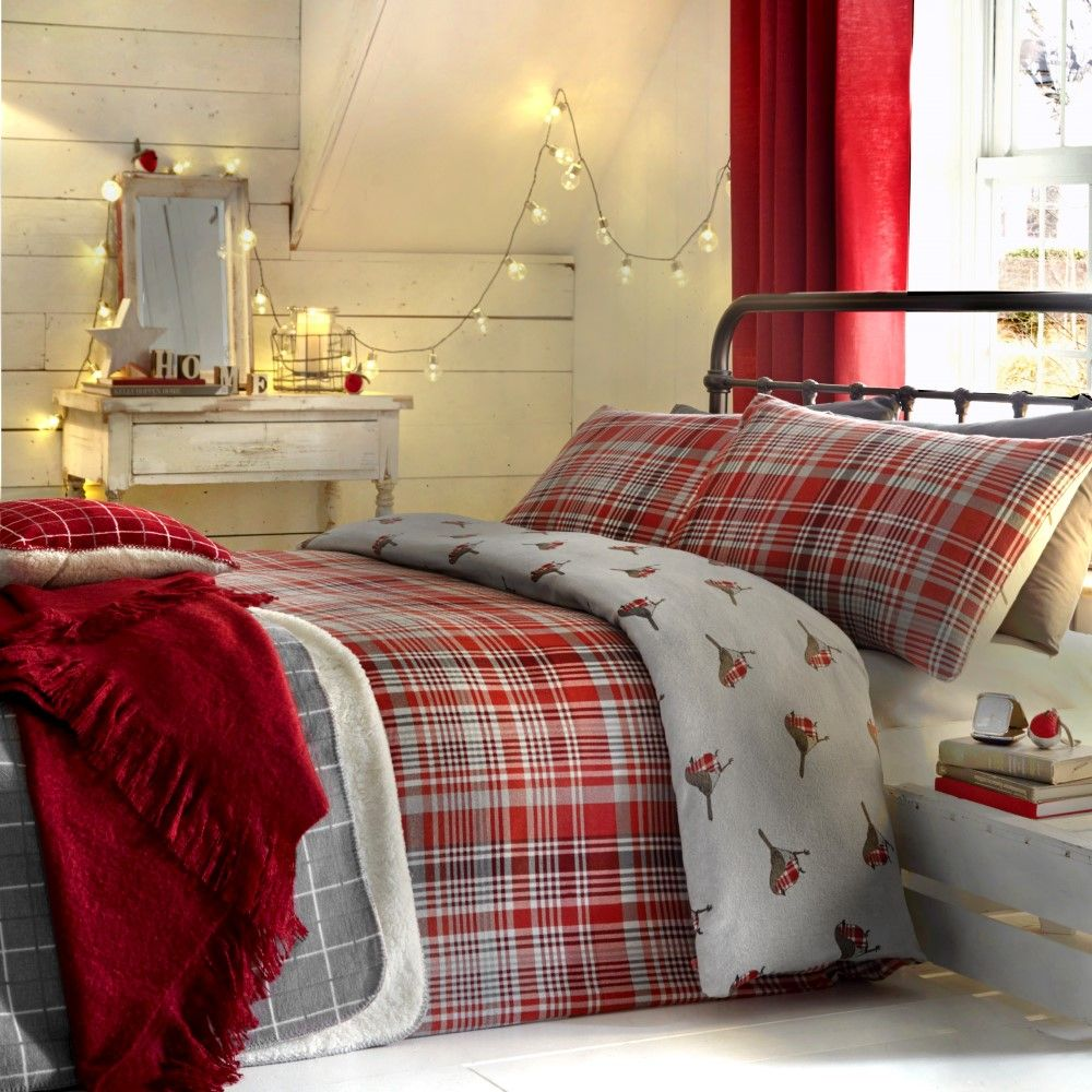 Thermal-100-Brushed-Cotton-Flannelette-Quilt-Duvet-Cover-Bed-Set-Soft-Cosy-Warm thumbnail 3