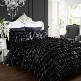Flamenco Can Can Quilt Duvet Cover - Black