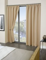 Luxury Thermal Supersoft Blackout Curtains Natural Beige