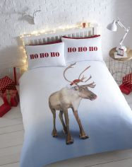 Blitzen Reindeer Flannelette Thermal Duvet Cover Set