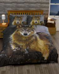 Twilight Wolf Brown Duvet Cover Set