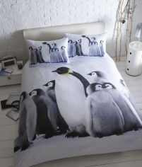 Baby Penguins Duvet Cover Set