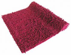 Luxury Sparkle 100% Cotton Chenille Rug/Bath Mat Wine