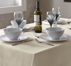 Linen Look Tablecloth - Ivory Cream