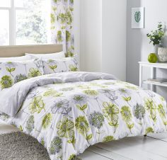 Banbury Floral Reversible Duvet Cover Set - Green