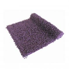 Luxury Sparkle 100% Cotton Chenille Rug/Bath Mat Purple
