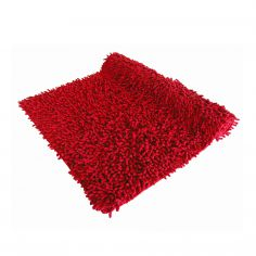 Luxury Sparkle 100% Cotton Chenille Rug/Bath Mat Red