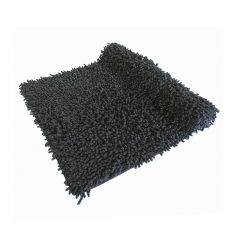 Luxury Sparkle 100% Cotton Chenille Rug/Bath Mat Black