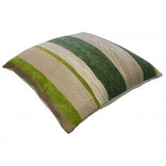 Aspen Chenille Stripe Cushion Cover - Green