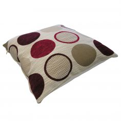 Cortez Chenille Spots Cushion Cover - Red