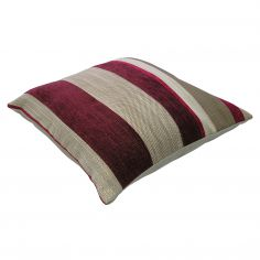 Aspen Chenille Stripe Cushion Cover - Red