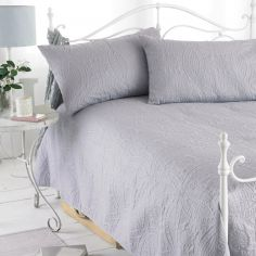 Parisienne Grey Quilted Bedspread