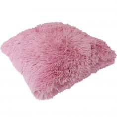 Fluffy Faux Fur Cushion Cover - Pink