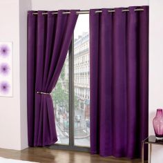Cali Eyelet Ring Top Thermal Blackout Curtains - Purple