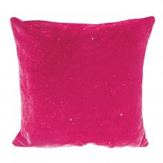 Electra Sparkle Glitter Diamante Cushion Cover - Fuchsia Pink