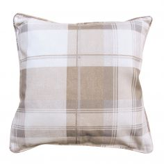 Birkdale Tartan Check  Cushion Cover - Natural Cream Beige