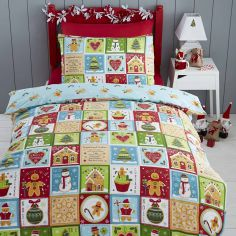 Jolly Gingerbread Christmas Duvet Cover Set
