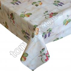 Berries Plastic Tablecloth Wipe Clean Pvc Vinyl