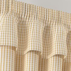 Gingham Check Beige Pelmet - Natural