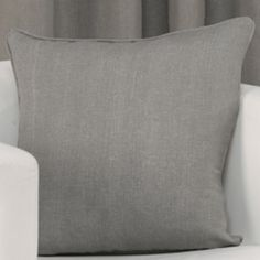 Plain Belmont Charcoal Grey Silver Cushion Cover