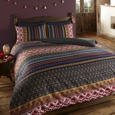 Orkney Ethnic Reversible Duvet Cover Set Blue
