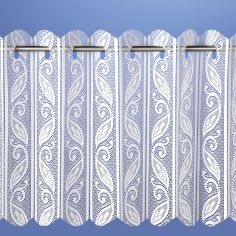 Lace Net Vertical Louvre Blind - White