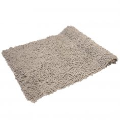 Luxury Sparkle 100% Cotton Chenille Rug/Bath Mat Silver Grey