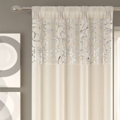Skye Slot Top Voile Curtain Panel - Cream