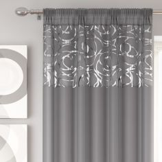 Skye Slot Top Voile Curtain Panel - Silver