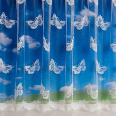 Large Butterfly 4810 White Net Curtain