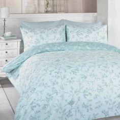 Toile Blue Birds Duvet Cover Set
