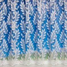 Fern Leaf White Net Curtain
