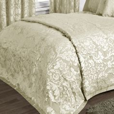 Charleston Jacquard Bedspread - Cream