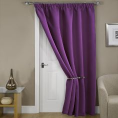 Thermal Supersoft Blackout Door Curtain Purple
