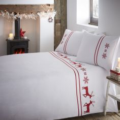 Luxury Vancouver Duvet Cover Set - Red