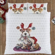 Ivy & Snowy Christmas Duvet Cover Set
